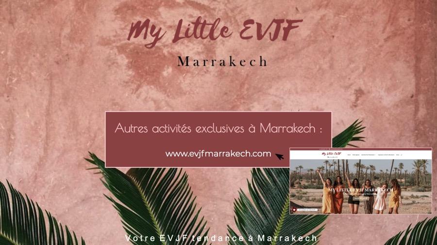 Agence qui organise des evjf à Marrakech