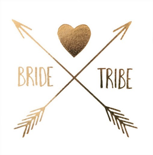 Tatouages BRIDE TRIBE coeur et flèche EVJF
