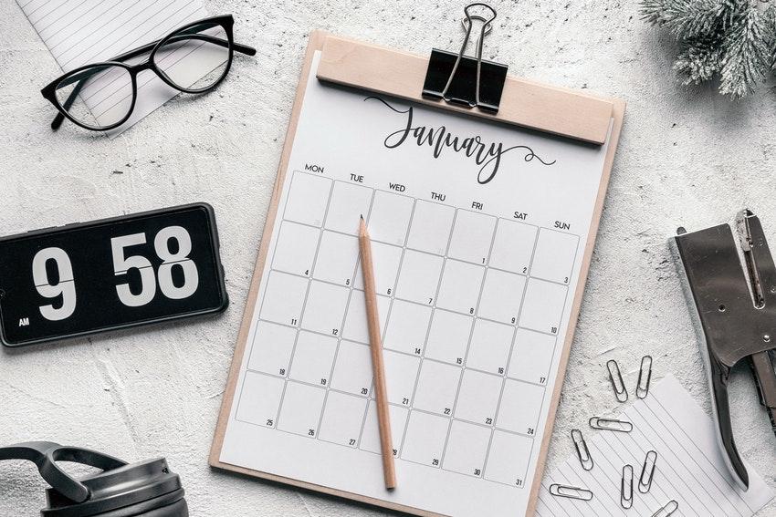 calendrier choisir date