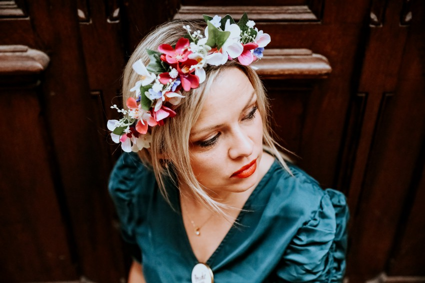 jolie couronne de fleurs shooting photo evjf reims
