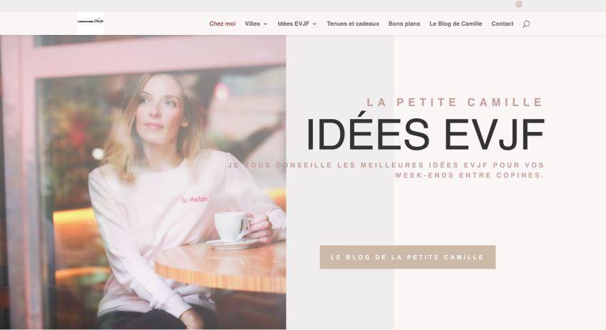 page d'accueil blog la petite camille idées evjf