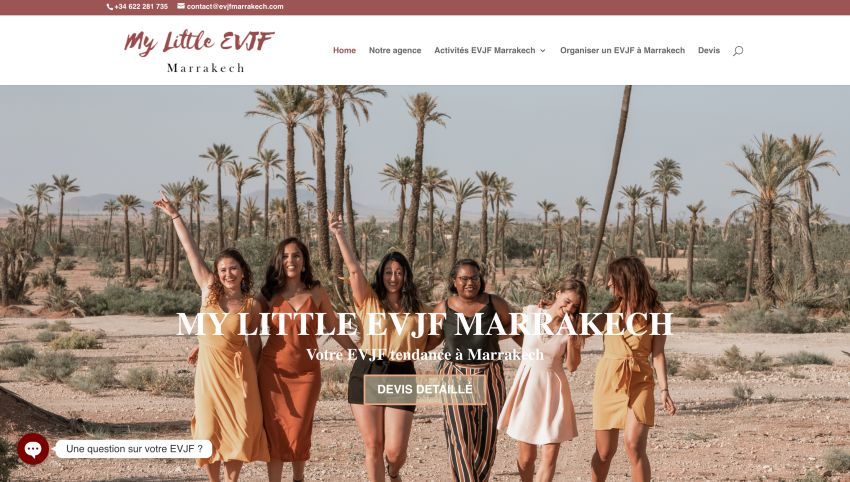 page d'accueil evjf à marrakech