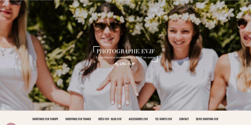 page d'accueil photographe evjf